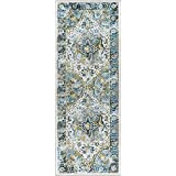 Alise Expo Aubusson Blue/Beige Traditional-style Runner Rug (2 7 x 7 3)