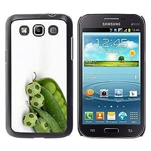 YOYOYO Smartphone Protección Defender Duro Negro Funda Imagen Diseño Carcasa Tapa Case Skin Cover Para Samsung Galaxy Win I8550 I8552 Grand Quattro - guisantes verdes de fútbol de fútbol diseño blanco