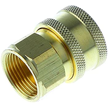 MonkeyJack 1x Brass Pressure Washer Quick Connect M22 to 1//4 Male Coupler Adapter