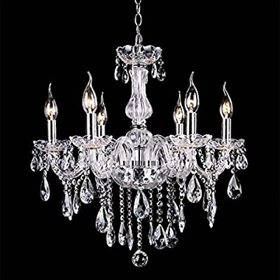 Gracelove Crystal Lamp Fixture Pendant Light Ceiling Chain Candle Chandelier (Clear)