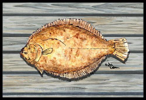 Caroline s Treasures Fish Flounder Indoor or Outdoor Doormat, 24 x 36 , Multicolor