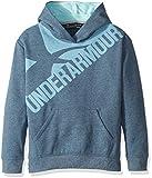 Under Armour Girls Threadborne Novelty Fleece Hoodie,True Ink /Blue Infinity, Youth X-Small
