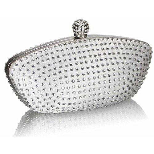 main d'embrayage cristal LeahWard Porte Sparkly pour Ivoire en Nude sac Evening à Sac Fête CWE286 en monnaie femme Embrayage XERqRUw