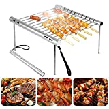 Anddoa Outdoor Portable Folding Stainless Steel Barbecue Grill Camping Picnic BBQ Rack