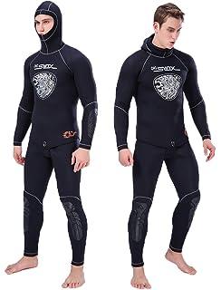 Amazon.com: Traje Hombre/Mujer 3 MM de buceo traje neopreno ...