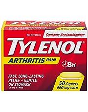 Tylenol Arthritis Pain, Acetaminophen 650 mg Caplets, Fast & Long Lasting Arthritis, Muscle & Joint Pain Relief, 50 Caplets