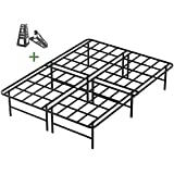 45MinST 16 Inch Tall SmartBase Mattress Foundation/Platform Bed Frame/3000LBS Heavy Duty/Extremely Easy Assembly/Box Spring Replacement/Quiet Noise-Free, Queen/King/Cal King(Queen)