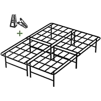 45MinST 16 Inch Tall SmartBase Mattress Foundation/Platform Bed Frame/3000LBS Heavy Duty/Extremely Easy Assembly/Box Spring Replacement/Quiet Noise-Free, TXL/Queen/King (Full)