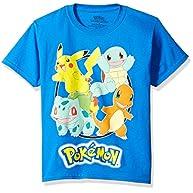 Pokemon Boys' Pokemon Group Short Sleeve Tee