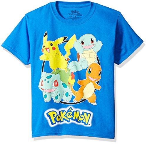 Pokemon Boys' Pokemon Group Short Sleeve Tee Photo
