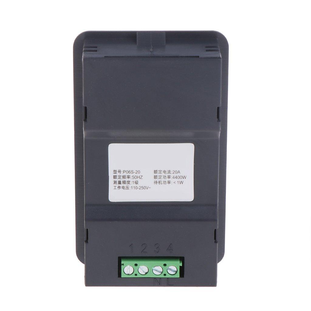 20//100A AC LCD Panel Digital Power Watt Meter Monitor Voltage KWh Volt/ímetro amper/ímetro