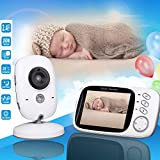 Samber Baby Monitor Wireless Video Night Vision Camera With Two-Way Audio Digital LCD Screen Talk Support Temperature Monitoring Home Surveillance Camera