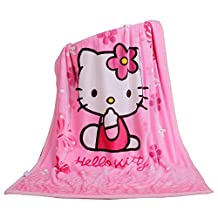 Children's Cartoon Printing Blanket Coral Fleece Blanket 39 By 55 (Hello Kitty)