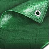 The Chemical Hut 2 Pack Of Strong Green Waterproof Tarpaulin Ground Sheet Covers For Camping, Fishing, Gardening & Pets - 1.2m x 1.8m / 4ft x 6ft