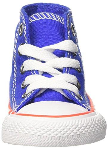 Converse Ctas Hi Hyper Royal/Bright Poppy/White, Zapatillas Altas Unisex Niños Blau (Hyper Royal/Bright Poppy/White)