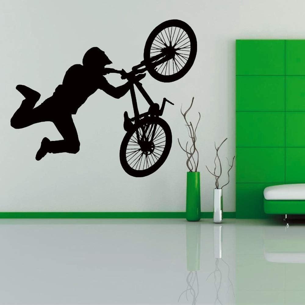 Truco de bicicleta de vinilo etiqueta de la pared Adolescentes Boy ...