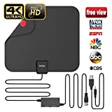 #9: Updated 2018 Version Professional TV Antenna, Indoor Digital HDTV Antennas Amplified 85 Miles Range 4K HD Freeview for Life Local Channels for All Type of Home Smart Television with Signal Controller