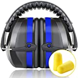 Fnova 34dB Highest NRR Safety Ear Muffs - Professional Ear Defenders for Shooting, Adjustable Headband Ear Protection / Shooting Hearing Protector Earmuffs Fits Adults to Kids (Blue2)