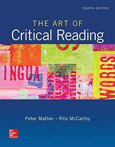 The Art Of Critical Reading (Developmental English)
