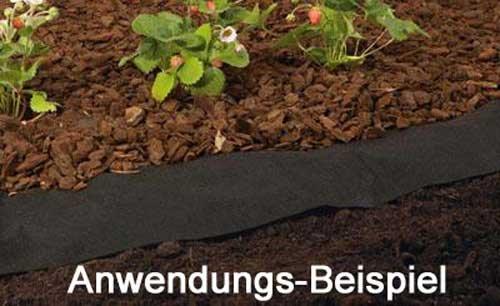 Favorit Unkraut Vlies 8 m lang aus Polypropylen, Unkraut Garten Vlies II77