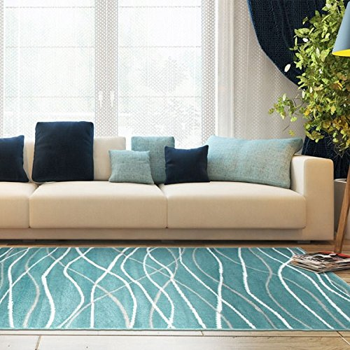 LNR Home Grace LR81125 Teal Rug (7'6 x 9 - Round Cowhide Rugs Shopping Results
