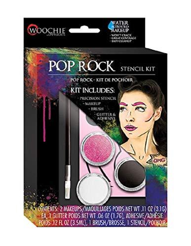 Woochie Stencil Kit - Professional Quality Halloween Costume Makeup - Pop Rock -