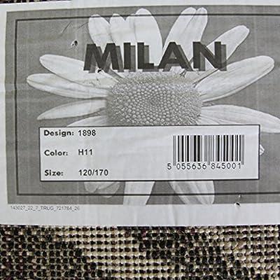 Milan Black & Grey Funky Diamond Pattern Rug 1898-H11 - 5 Sizes