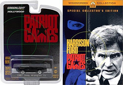 Patriot Games DVD & Model Movie Replica Pack 1987 Jeep Wrangler YJ Patriot Games (1992) Movie Action - Road 2015 Birch