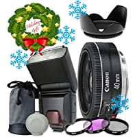 Canon EF 40mm f/2.8 STM Lens For Canon T6s T6i 7D Mark II 80D 70D 6D 5D Mark III Mark IV 5DS 5DS R DSLR Cameras