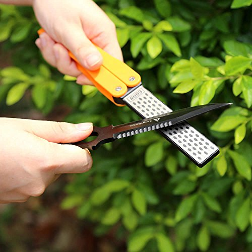 TAIDEA Multifunction Knives Grinder Sharpener Tool Pocket Two Side Diamond Outdoor Sharpening Stone T1051D - 1