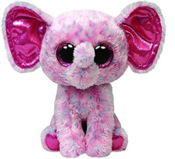 Amazon.com: Ty Beanie Boos Buddies Ellie Pink Speckled Elephant Medium Plush: Toys & Games