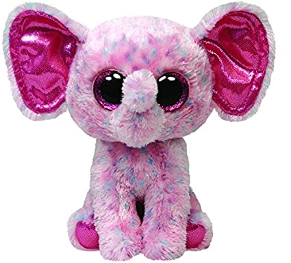 Ty Beanie Boos Buddies Ellie Pink Speckled Elephant Medium Plush