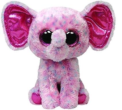 Ty Beanie Boos Buddies Ellie Pink Speckled Elephant Medium Plush
