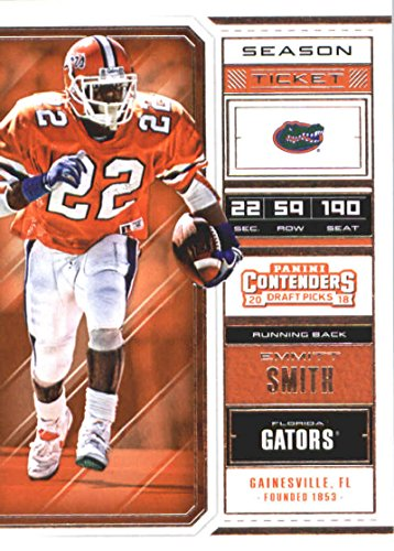 2018 Panini Contenders Draft Picks Season Ticket #40 Emmitt Smith Florida Gators Football (Smith Football Card)