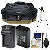 Canon 10EG Deluxe Digital SLR Camera Case - Gadget Bag with LP-E17 Battery & Charger + Tripod + Cleaning Kit for Rebel SL2, T6s, T6i, T7i, EOS 77D