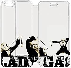 Fashion Style Lady Gaga Phone case Thin Slim Flip Leather Case Cover For iPhone 6 plus 5.5 inch OOL2973584