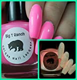 Glow-in-the-Dark Nail Polish Top Coat - FREE SHIPPING - Pink - SUNRISE - Nail Polish/Lacquer - Regular Full Sized Bottle (15 ml size)
