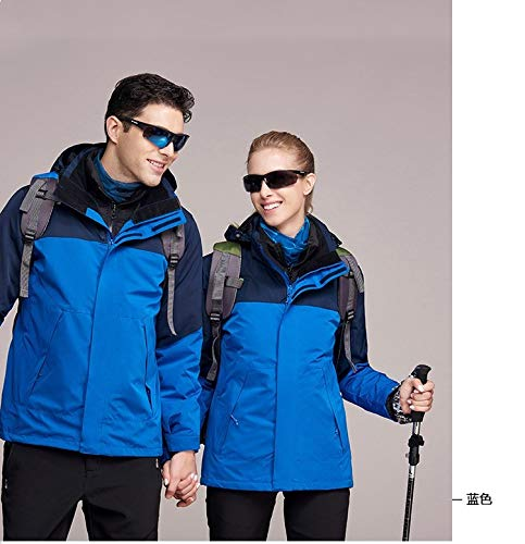 blue autumn HOME Outdoor and Jackets waterproof in Outdoor in XYL winter velvet and plus Jackets warm three one fqnCWTSc