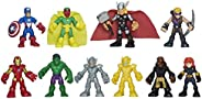 Playskool Heroes Marvel Super Hero Adventures Ultimate Super Hero Set, 10 Collectible 2.5-Inch Action Figures, Toys for Kids