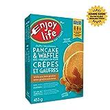 Enjoy Life Baking Mixes, Soy Free, Nut Free, Gluten Free, Dairy Free, Non GMO, Vegan, Pancake + Waffle Mix, 453 Gram Box (6 Boxes)