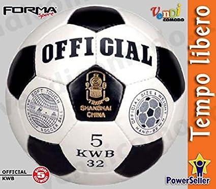 Balón de Fútbol OFFICIAL Size 5 Bola Cuero Sintético Cosido mano ...