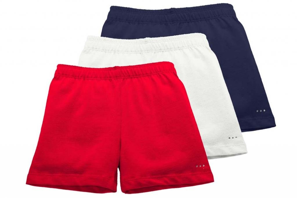 Sparkle Farms Girls Under Dress or Uniform Shorts Set, Sizes 3-12