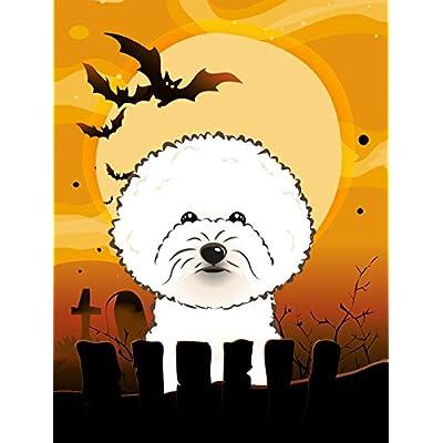 Carolines-Treasures-BB1775GF-Halloween-Bichon-Frise-Garden-Size-Flag-Small-Multicolor
