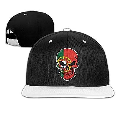 AJHGD Portugal Flag Skull-1 Unisex Hiphop Flat Bill Snapback Caps Adjustable Baseball Caps for Girls