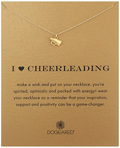 Dogeared I Heart Cheerleading Necklace Megaphone Gold, 18