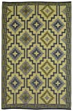 Fab Habitat Lhasa Indoor/Outdoor Rug,  Empire Yellow & Gray, (6' x 9')