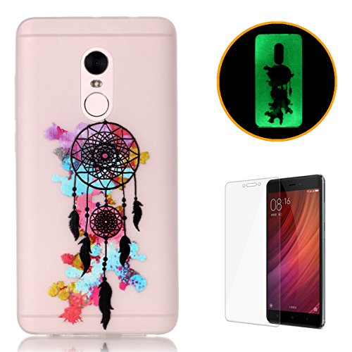 xiaomi-redmi-note-4-silicone-gel-case-with-free-screen-protectorkasehom-luminous-effect-green-glow-i