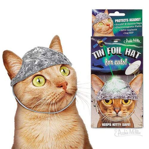 Archie McPhee Tin Foil Hats Conspiracy Cats Accoutrements 12766