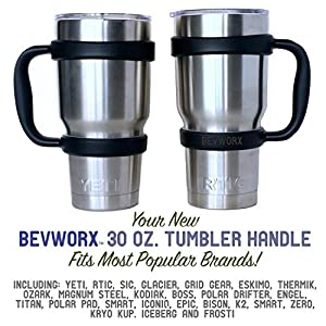 NEW BevWorx Tumbler Handle for 30 oz. Yeti, RTIC, SIC tumblers and more! Eco-friendly and ergonomic, the perfect way to customize your tumbler! (30 oz., Spanish Moss)