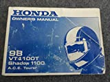 1998 Honda VT1100 Owners Manual VT 1100 T Shadow A.C.E. Tourer